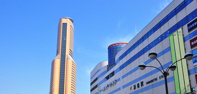 画像:浜松駅、アクトタワー