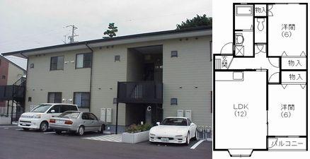 写真:【大型収納!】浜松市三島町の2LDK エスポワールミシマC